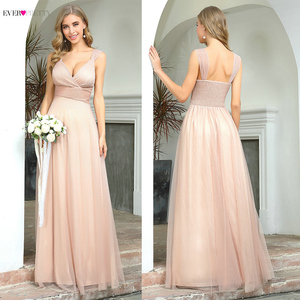 Image 3 - Spakle Prom Dresses Long Ever Pretty A Line V Neck Ruched Elegant Cheap Tulle Evening Party Gowns Vestidos Largos Fiesta 2020