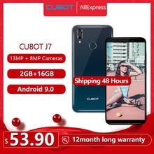 "Cubot J7โทรศัพท์มือถือ5.7 ""18:9 Display Android 9.0 Pie Face IDด้านหลังคู่กล้อง13MP 2800MAhสมาร์ทโฟนDualซิมการ์ดCellular"