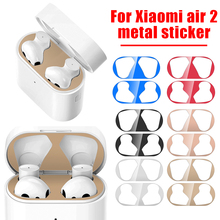 For Airdots Pro 2 Dust Guard Sticker Dust-proof Metal Protective Skin Protector for Xiaomi Airdots Pro Air 2 TWS Earphone Case