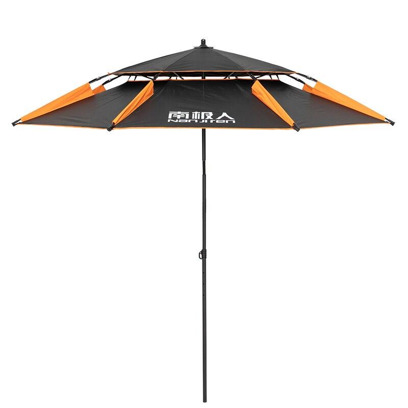 Dwuwarstwowy przenośny parasol plażowy zagęszczony powierzchnia do basenu wędkarskiego regulowany mocny pręt aluminiowy Super duży 2.4m