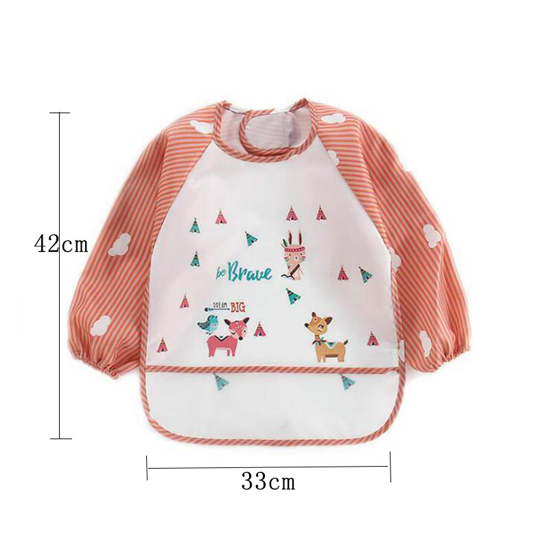 Cute Baby Bibs Toddler Long Sleeve Apron