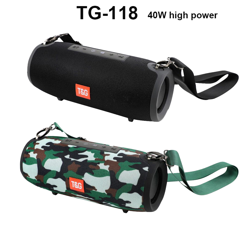 TG-118 Portable Speaker Wireless Bluetooth Outdoor Sport Column Speaker Phone Call IPX6 Waterproof 3D Stereo MP3 Music Player