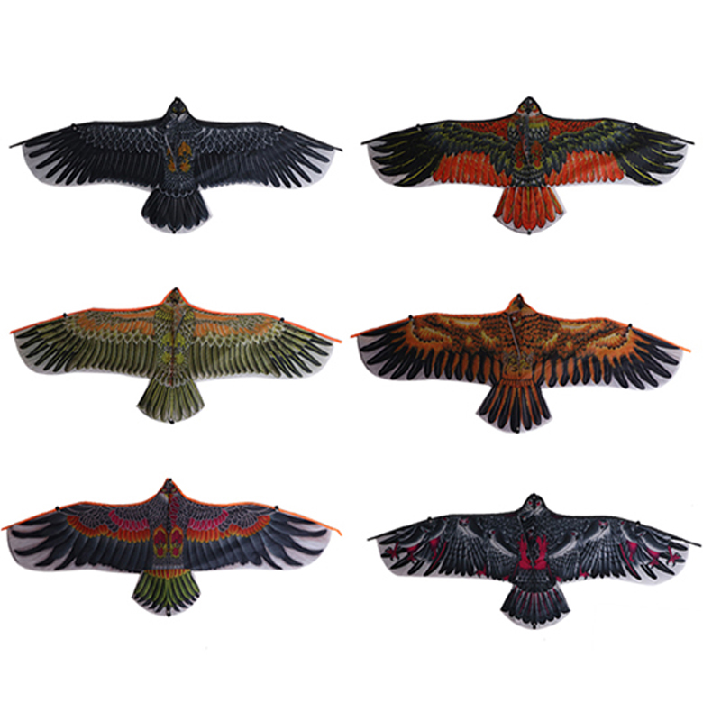 Kites Toys 1.1m Huge Eagle Novelty Eagle Kite Flying Easy Control Family Outings Outdoor Fun Sports For Children Gift Waterproof