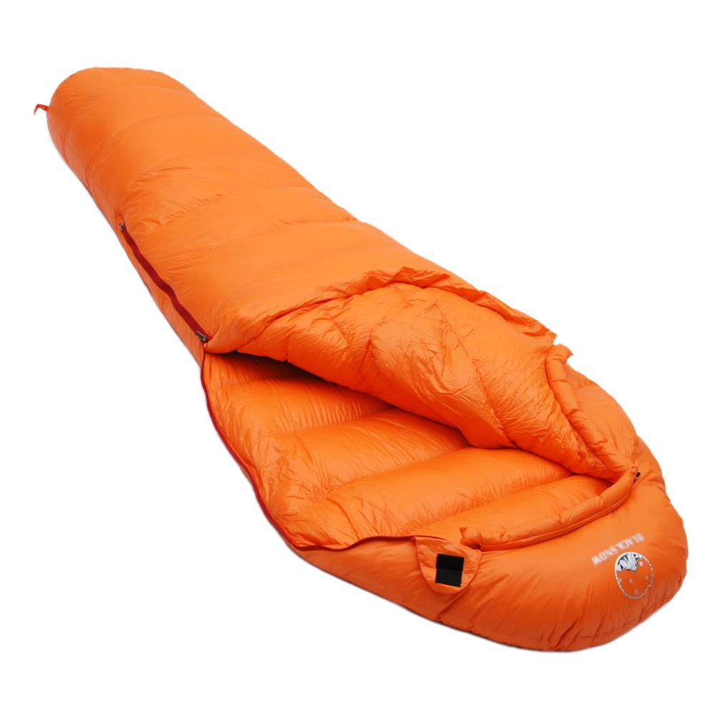 Image 4 - Winter Ultralight Thermal Adult Mummy 95% White Goose Down  Sleeping Bag Sack W/ Compression Pack For Backpacking Camping  HikingSleeping Bags