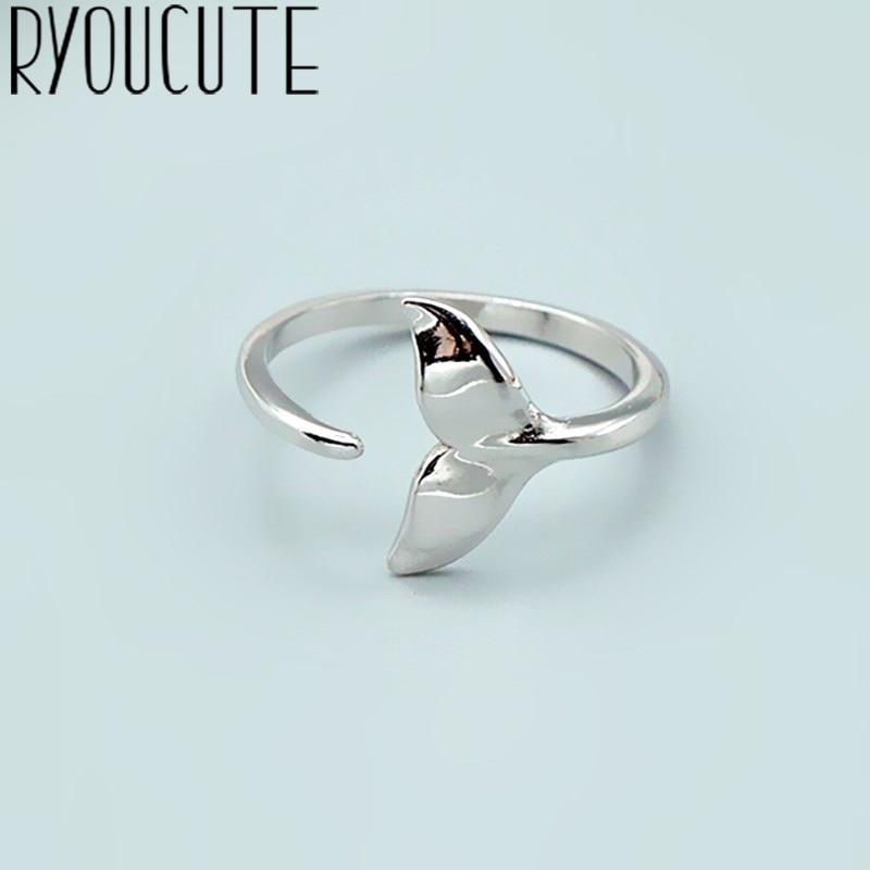 Bohemian Vintage Große Meerjungfrau Schwanz Ring Für Frauen Männer Boho Antike Silber Farbe Knuckle Ringe Boho Schmuck Anillos 2021
