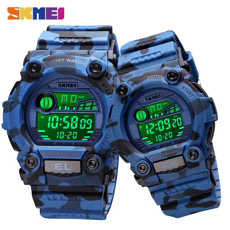 2020 SKMEI Lovers Men Women Watches Stopwatch Waterproof Electronic Clock Military Sport Watches Male Female Digital Wristwatch