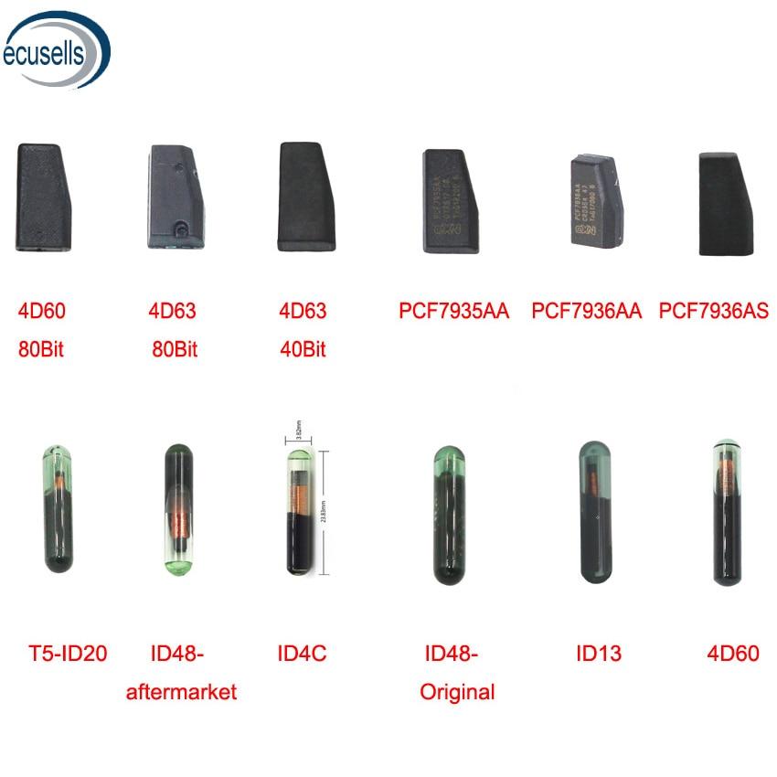 Распродажа! ID4D60 4d60, 80 бит, 40 бит, 4D63, ID48, ID4C, ID13, PCF7935AA, pcf7936asпустой транспондер, чип для автомобильного ключа