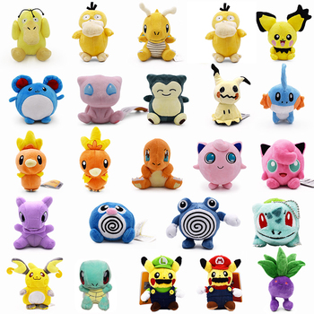 24 Styles Plush Doll Jigglypuff Psyduck Snorlax Mimikyu Charmander Squirtle Bulbasaur Stuffed Animal Plush Toys Wholesale Price 1pcs 12 15cm anime cartoon charmander squirtle bulbasaur clefairy ditto metamon plush toys soft stuffed dolls 5 styles