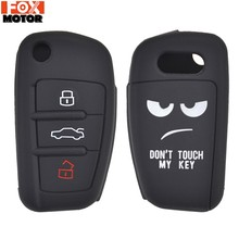 Para Audi A1 S1 A3 S3 A4 A6 RS6 TT Q3 Q7 2005-2013 Keyless remoto pele Chave Capa Shell luva Protector Silicone Key Caso Fob