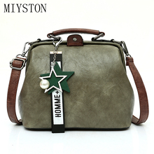 купить 2019 Women Handbag Leather Shoulder Bag Female Doctor Crossbody Handbag Pendant Tassel Casual Famous Brand Women Bags дешево