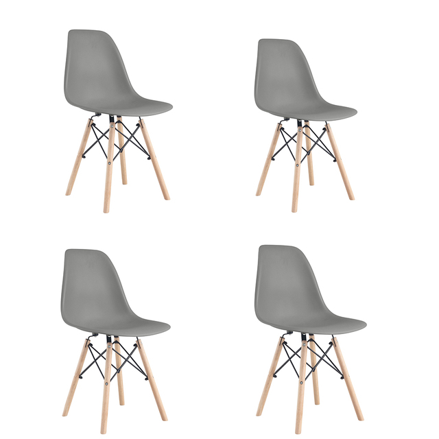 A set of four Nordic medieval retro style dining chairs, solid wood feet, beech wood, suitable for kitchen, dinings room 2