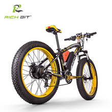 Snow-Bicycle Electric-Bike Fat-Tire Beach-Cruiser Richbit 21-Speed 48V Powerful 17AH