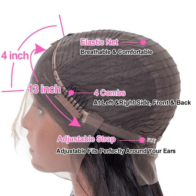 HALOQUEEN prosto koronki przodu peruki dla kobiet Remy włosy malezyjski 130% 150% gęstości 13X4 koronki przodu peruki proste włosy ludzkie peruki
