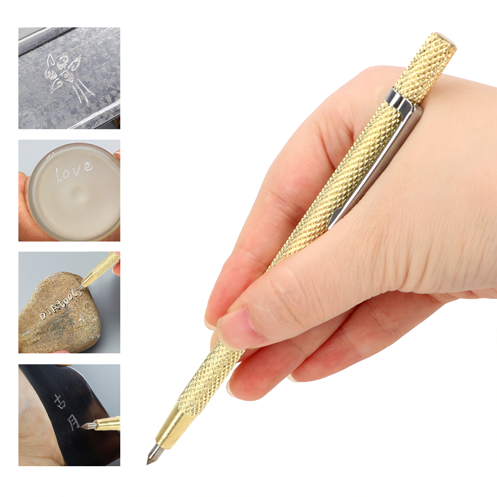 NICEYARD Tungsten Carbide Tip Portable Alloy Lettering Pen For Glass Ceramic Metal Carving Scriber Pen Engraving Pen Hand Tool