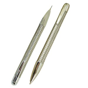 Image 1 - ACMECN 2 יח\חבילה מותג מתכת צמת עט 0.7mm עיפרון סט עם כרום מינוי עט מכאני עיפרון משרד מכתבים