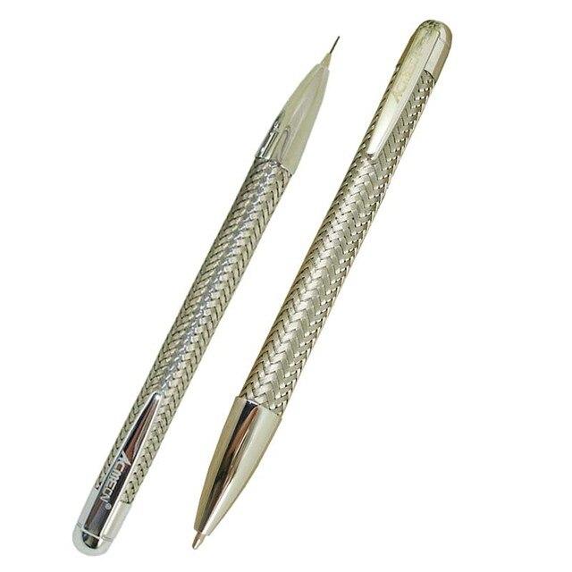 ACMECN 2 יח\חבילה מותג מתכת צמת עט 0.7mm עיפרון סט עם כרום מינוי עט מכאני עיפרון משרד מכתבים