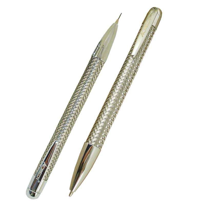ACMECN 2pcs / lot Hot sale Unique Design Couple Ball Pen and Mechanical Pencil Sets Cool Office Stationery Gifts
