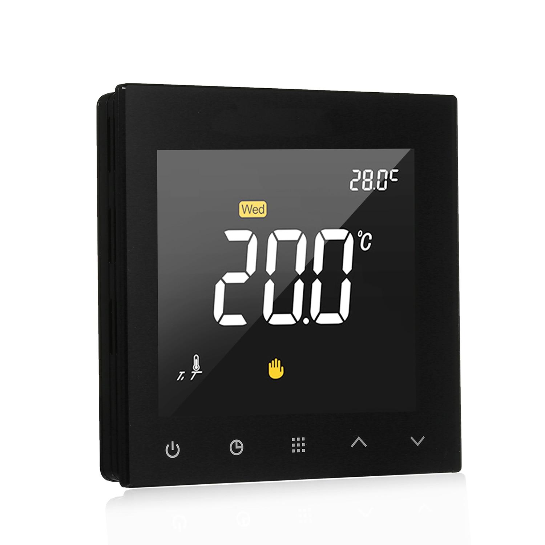 WIFI Thermostat intelligent Programmable contrôleur de température de chauffage par le sol de l'eau écran tactile couleur avec télécommande App