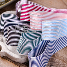 100yards 25mm 38mm silver purl stitched stripes ribbon for hair bow diy accessories craft supplies diy handcraft gift packing цена и фото