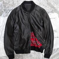 High Quality Sheepskin Jackets Mens Real Sheepskin Jackets Name Brand Male Corium Leather Coat American Style Man Overcoat A835