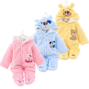 Newborn Baby Clothes Winter Unisex Christmas Rompers Thick Warm Infant Jumpsuit Parkas For Baby Girls Boy Romper Snowsuit 0-12M