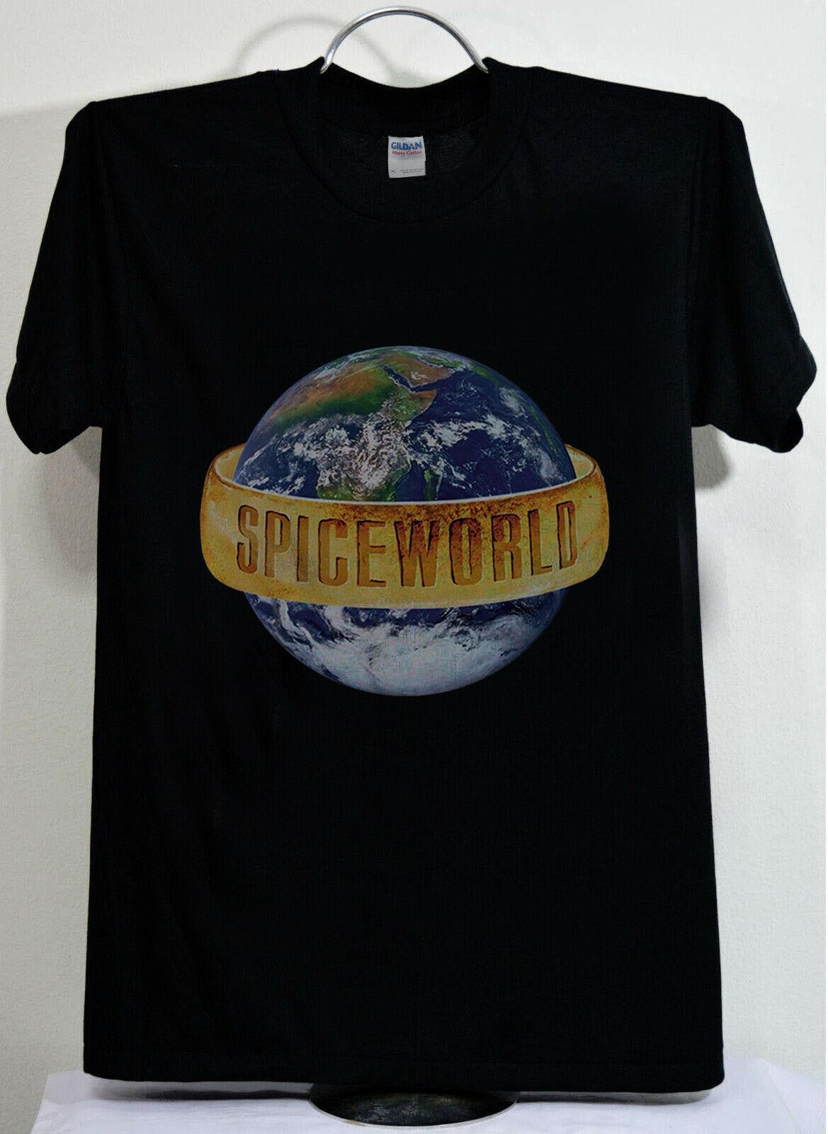 New Spice Girls Tour 2019 Concert Spice World Event Shirt Black & White