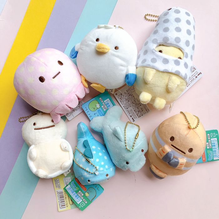 1Pc Japan Marine Sumikko Gurashi Stuffed Plush Dolls Bags Pendant Keychain