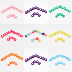 50pcs 10mm Round Alphabet/Letter Acrylic Beads for Children's toy Bracelet Necklace Spacer Beads Jewelry Making DIY