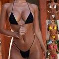 Новый сексуальный комплект бикини Для женщин Плавание костюм с высокой талией купальные костюмы Плавание с лямкой на шее набор Пуш-ап бикин...