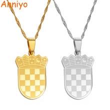 Anniyo croácia falg charme pingente colares cor do ouro/cor prata para as mulheres meninas croata jóias presente #180021