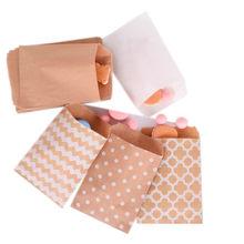 100 sztuk 15*10cm torby papierowe Popcorn żywności bezpieczne drukowane materiały urodzinowe przyjazne dla środowiska kraft promocja cukierki prezent torba