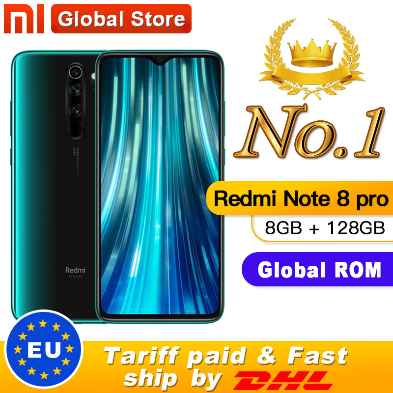 "Global ROM Original Xiaomi Redmi Note 8 pro 8GB 128GB MTK Helio G90T Smartphone 6.53"" 18W 64MP Quad Rear Camera 4500mAh(China)"
