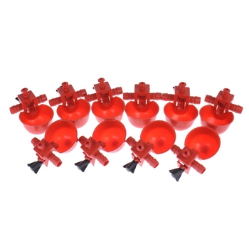 100 Pcs Chicken Drinking Cups Quail Waterer Bowls Bird Red Glass Animal Husbandry Tools Automatic Bird Coop Feeder Drinking Cups