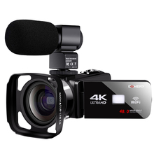 Real 4k WiFi Video Camcorder 48MP Recorder Streaming Vlogging For Youbute Night