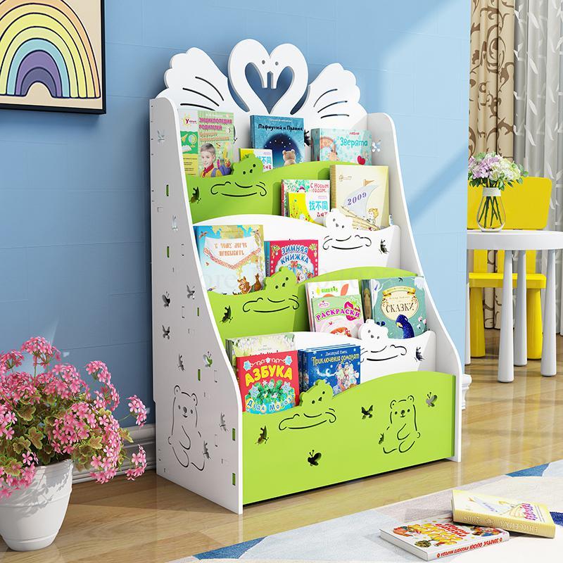 Children's Bookshelf Floor Simple Rack Economical Student Bookcase Kindergarten Children's Picture Book Storage Rack