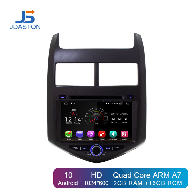 JDASTON Android 10 Car DVD Player For Chevrolet <font><b>Aveo</b></font>/Sonic 2011 2012 <font><b>2013</b></font> 2 Din Car Radio GPS Navigation Multimedia Stereo WIFI image