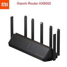 Novo 2021 xiaomi ax6000 aiot roteador 6000mbs wifi6 vpn 512mb qualcomm cpu malha repetidor de sinal externo amplificador de rede mi casa