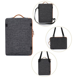 Image 2 - DOMISO 11 13 14 15.6 17.3 Inch Waterproof Laptop Bag Polyester with USB Charging Port Headphone Hole for Lenovo Acer HUAWEI HP