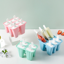 Силиконовая форма льда мороженое плесень 6 отверстие эскимо прессформа льда лоток многоразовые DIY домашнее мороженое инструменты Кухня акс...