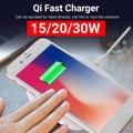 20 Вт Qi Быстрая зарядка беспроводное зарядное устройство для iPhone 11 Pro для samsung Xiaomi huawei