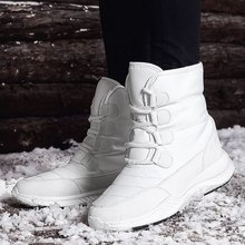 цены Snow Boots Women Winter Warm Platform Fur Fringe Shoes Wedges Heels High Boots Women Leather Boots Bota Women Shoes
