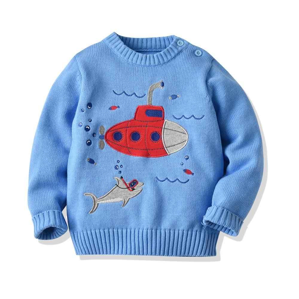 Baby Jongens Meisjes Submarine Trui Kinderen Trui Effen Kleur Katoen Truien Trui Katoen Lange Mouwen Kinderen Gebreide Tops