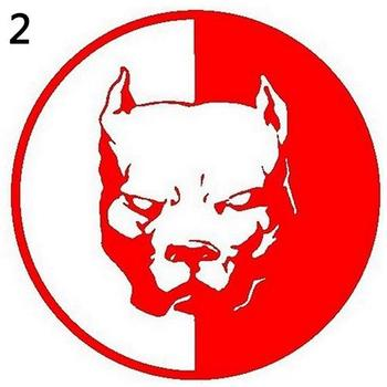 Waterproof Cool Reflective Pitbulsl Dog Car Sticker Auto Truck Door Window Warning Decal image