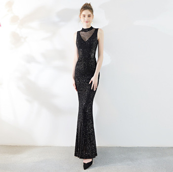 Mermaid Chinese Sexy Beading Sequins Oriental Party Female Cheongsam Stage Show Qipao Dress Elegant Celebrity Banquet Dresses
