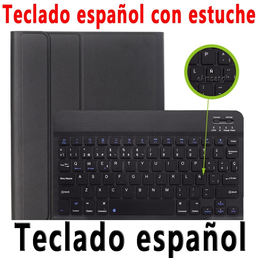 Spanish Keyboard Silver Keyboard Case For ipad 10 2 2019 7 7th 8th Generation A2197 A2198 A2200 A2232 Detachable