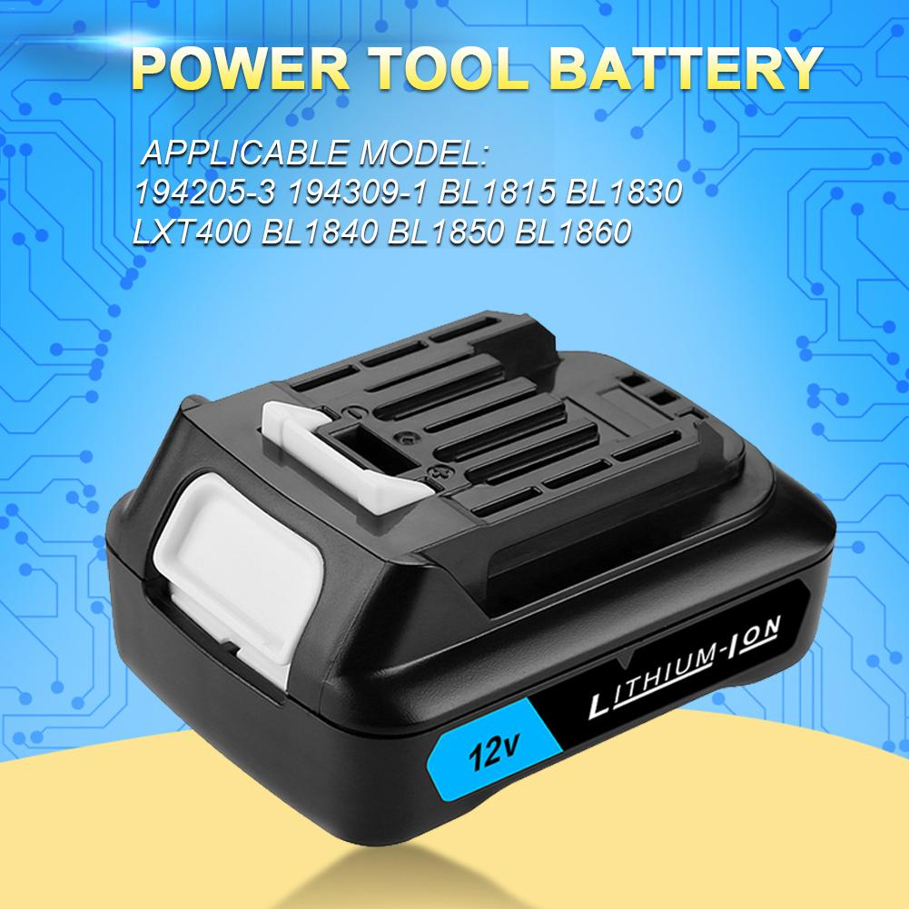 Lithium 2000mAh Rechargeable Battery With LED Power Tools Lithium-Ion CXT Battery For <font><b>12V</b></font> <font><b>1.5Ah</b></font> 5.0Ah Power Tools image
