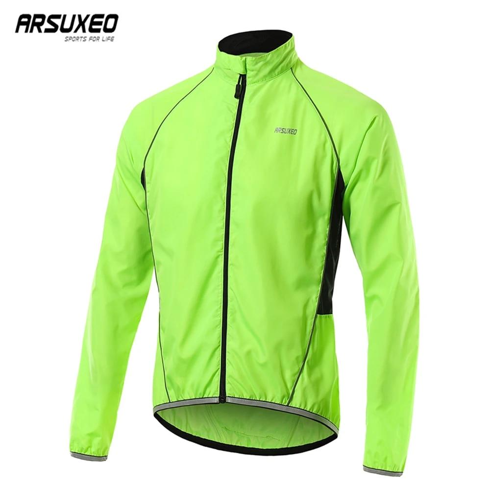 Arsuxeo Men Waterproof Windproof Cycling Jacket Casual Outdoor Sport Long Sleeve