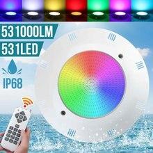 Luz de piscina subacuática con Control remoto, luz LED de 55W, 531 SMD, RGB, resistente al agua, IP68, Fiesta EN LA Piscina