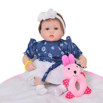 Nice princess dress with Reborn Baby 42cm fashion Bebe toys girls Fake Infant Educational Kids Playmate silicone reborn Boneca
