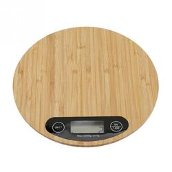 Kitchen Scale Bamboo LED Display Electronic Scale 5KG/1G Kitchen Weighing Scale Food Cooking Portable Weighing Food Scale
